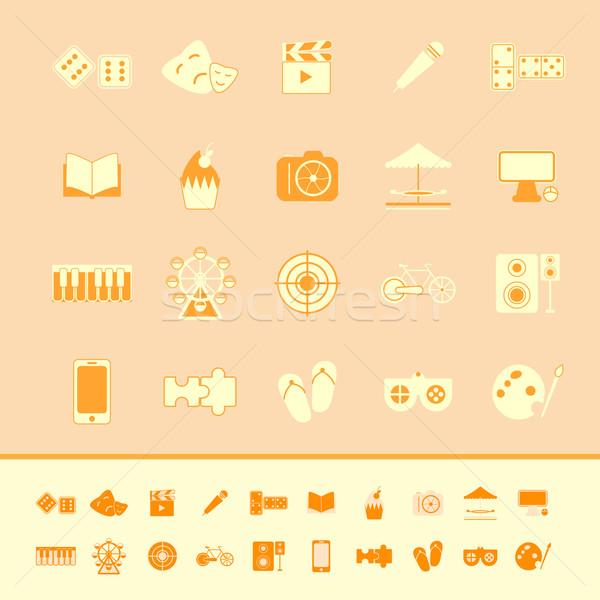 Eğlence renk simgeler turuncu stok vektör Stok fotoğraf © nalinratphi