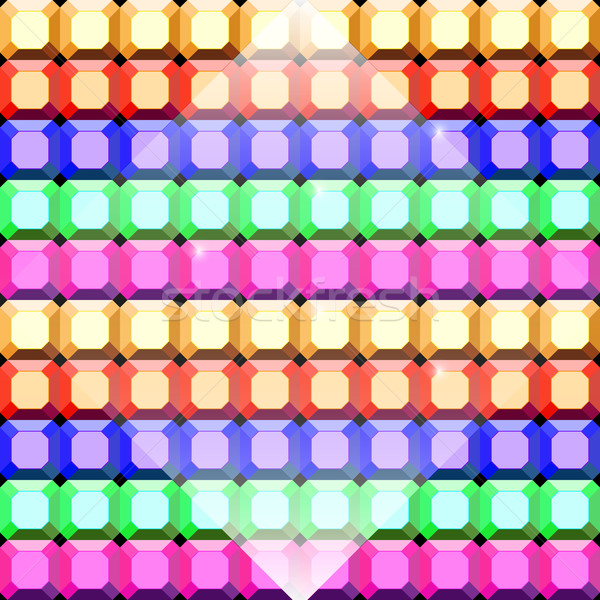 Colorful gem stone square cut pattern background Stock photo © nalinratphi