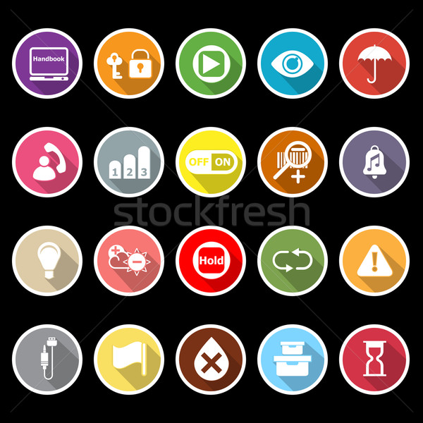 Home use machine sign flat icons with long shadow Stock photo © nalinratphi