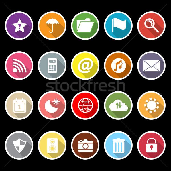 Tool bar icons with long shadow Stock photo © nalinratphi