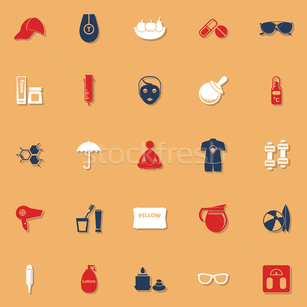 Facial and body treatment classic color icons with shadow Stock photo © nalinratphi