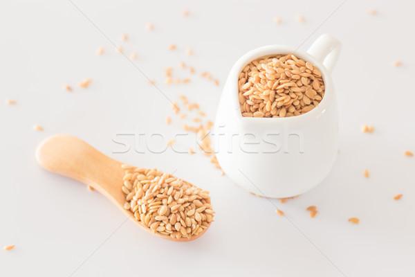 Giallo sementi clean tavolo da cucina stock foto Foto d'archivio © nalinratphi