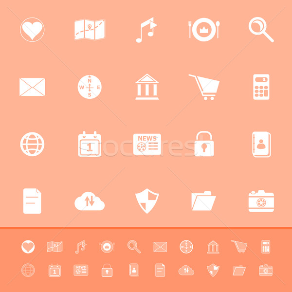 General application color icons on orange background Stock photo © nalinratphi