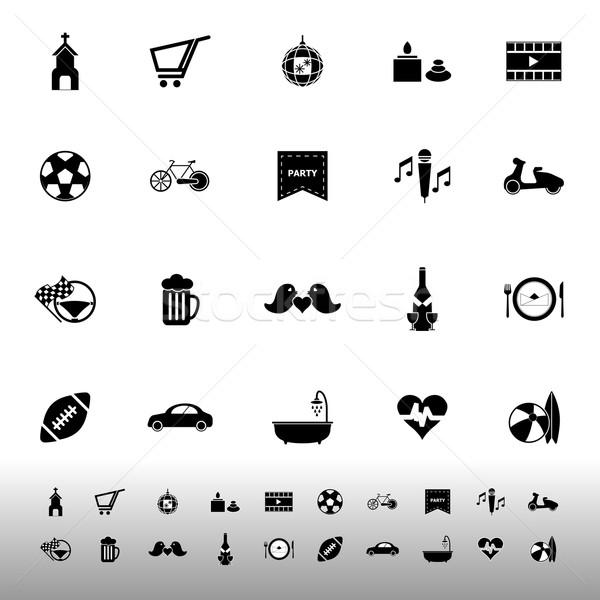 Friday and weekend icons on white background Stock photo © nalinratphi