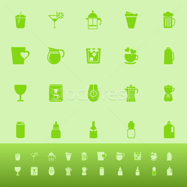 ストックフォト: ドリンク · 色 · アイコン · 緑 · 在庫