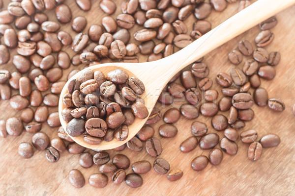 Kávé grunge fából készült stock fotó kávézó Stock fotó © nalinratphi