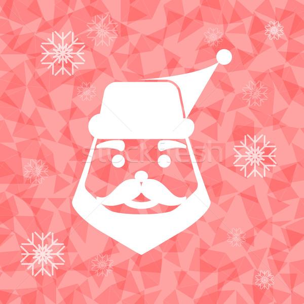 サンタクロース 三角形 在庫 ベクトル カード パターン ストックフォト © nalinratphi