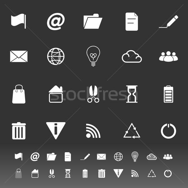 Stockfoto: Web · internet · pictogrammen · grijs · voorraad · vector · computer