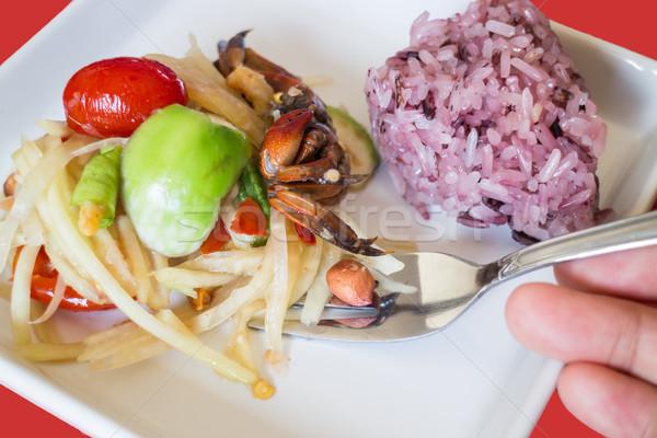 пряный Салат ягодные риса складе фото Сток-фото © nalinratphi