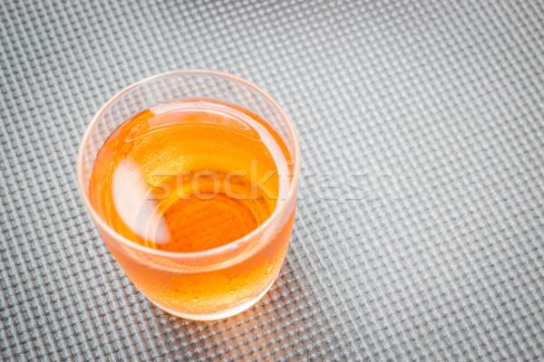 Close up glass of fresh mix fruit juice Stock photo © nalinratphi
