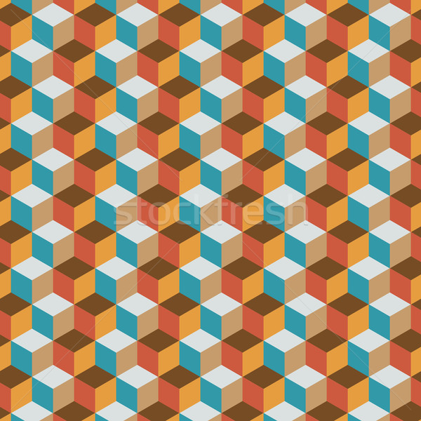 Vintage cube flat color background Stock photo © nalinratphi