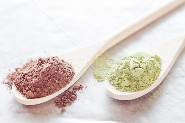 Té verde polvo stock foto textura Foto stock © nalinratphi