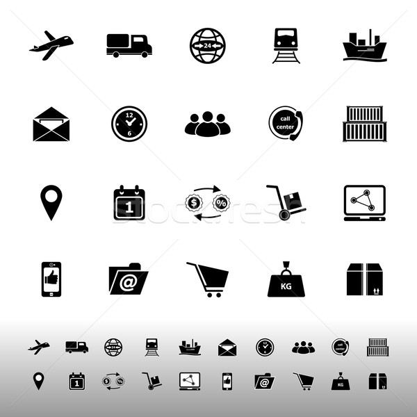 Logistic icons on white background Stock photo © nalinratphi