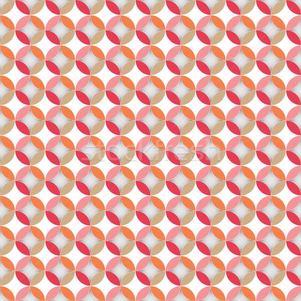 Belle pastel couleur cercle stock vecteur Photo stock © nalinratphi