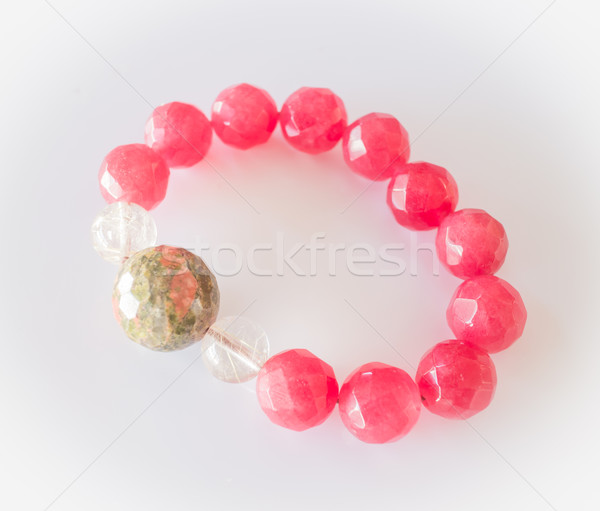 Handmade stone bead created bracelet Stock photo © nalinratphi