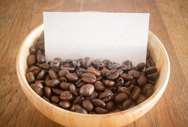 Grain de café carte de visite stock photo café Photo stock © nalinratphi
