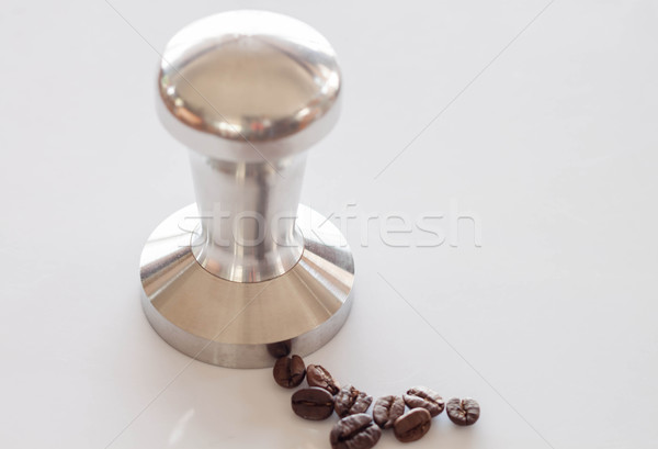 Espresso acier inoxydable propre table café fond Photo stock © nalinratphi