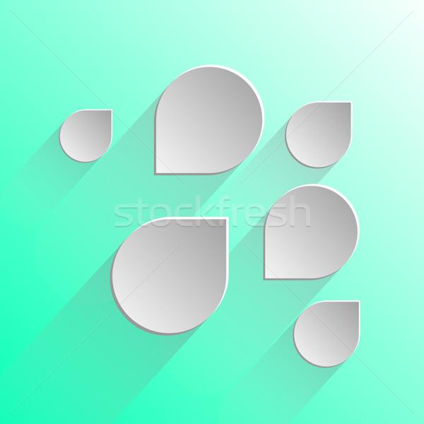 デザイン 吹き出し 薄緑 在庫 ベクトル 抽象的な ストックフォト © nalinratphi