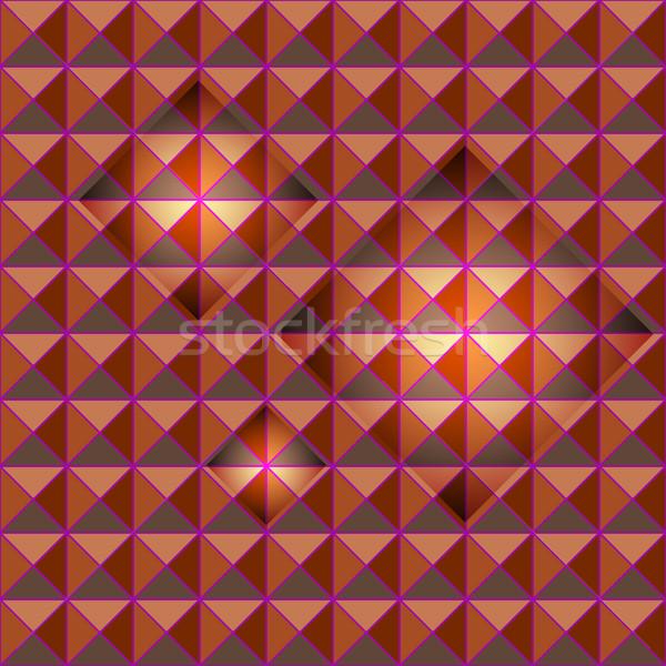 Orange studs seamless texture with light glow Stock photo © nalinratphi