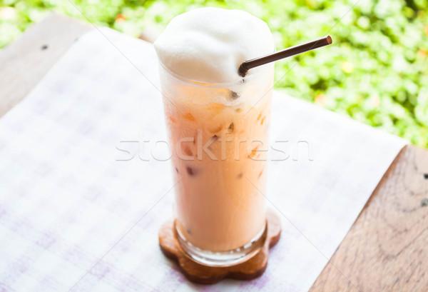 Tea time with cold thai milk tea  Stock photo © nalinratphi