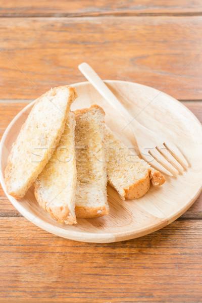 Saboroso torrado grão pão manteiga estoque Foto stock © nalinratphi