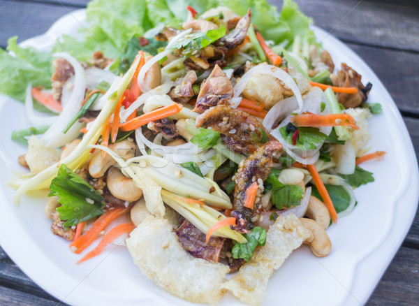 Spicy seafood and fish maw salad Stock photo © nalinratphi