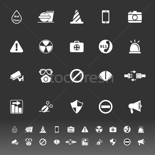 общий полезный иконки серый складе вектора Сток-фото © nalinratphi