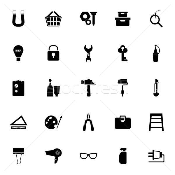 DIY icons on white background Stock photo © nalinratphi