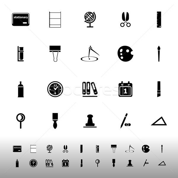 General stationary icons on white background Stock photo © nalinratphi