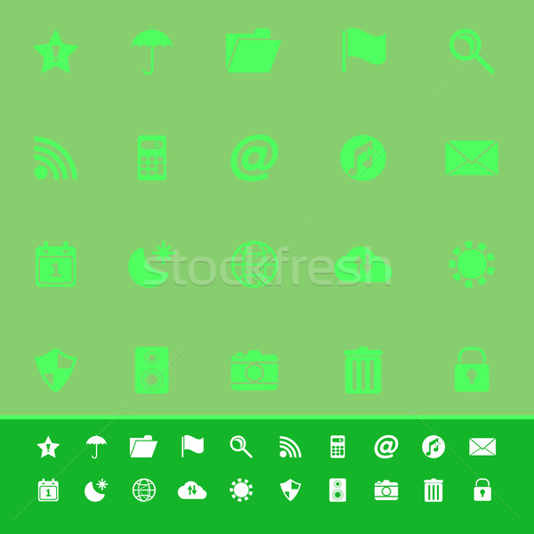Tool bar color icons on green background Stock photo © nalinratphi