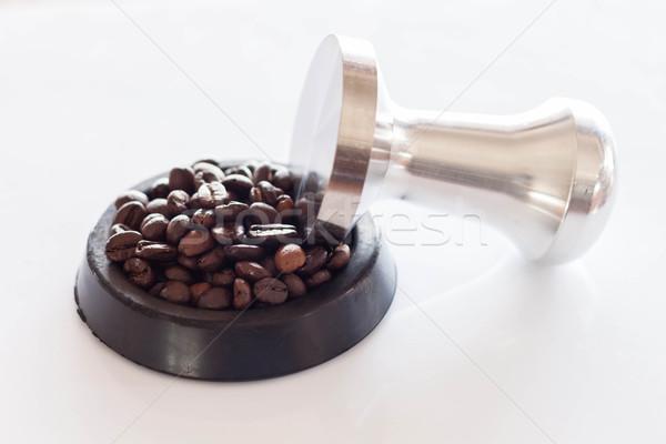 кофе резиновые блюдце фон таблице Сток-фото © nalinratphi