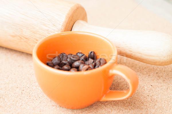 Csésze kávébab dugó szeretet természet terv Stock fotó © nalinratphi