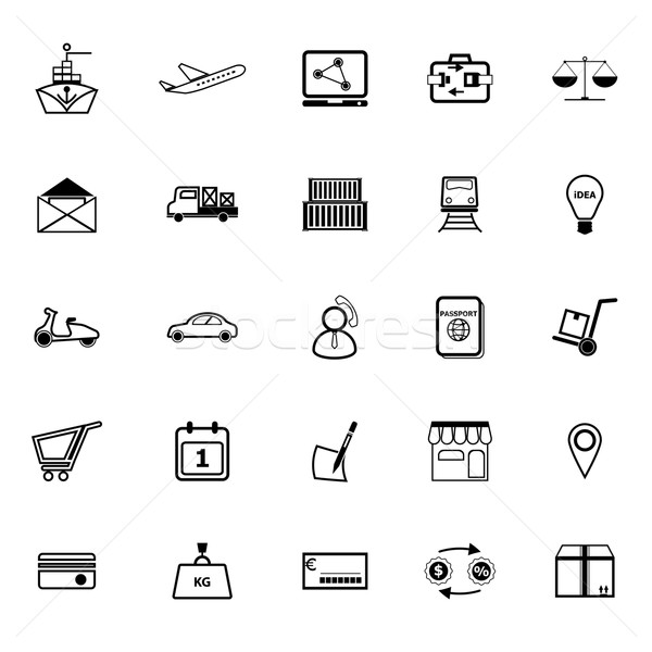 International business line icons on white background Stock photo © nalinratphi