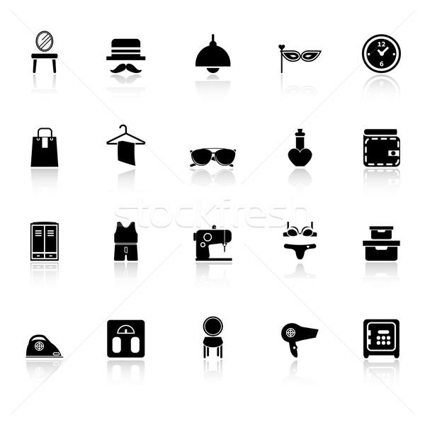 Vestidor iconos blanco stock vector moda Foto stock © nalinratphi