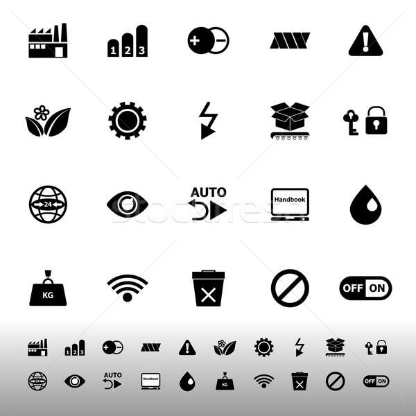 Elektronikus felirat ikonok fehér stock vektor Stock fotó © nalinratphi