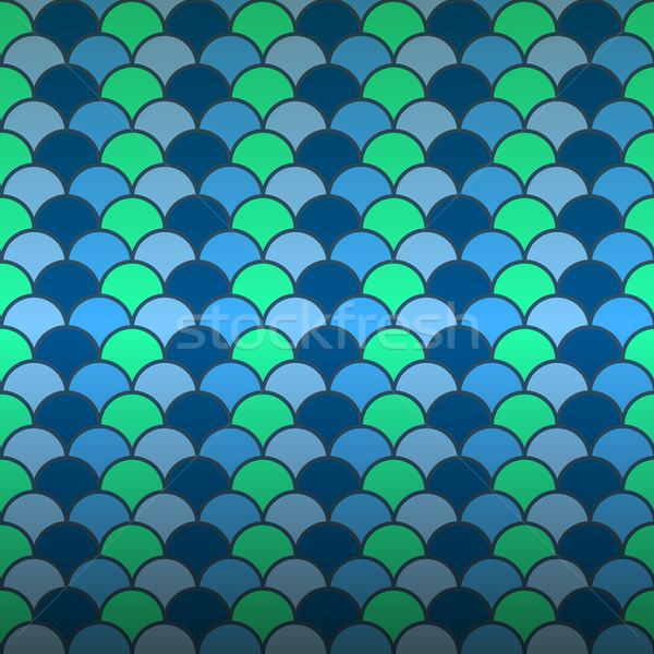 Naadloos vis schaal patroon voorraad vector Stockfoto © nalinratphi