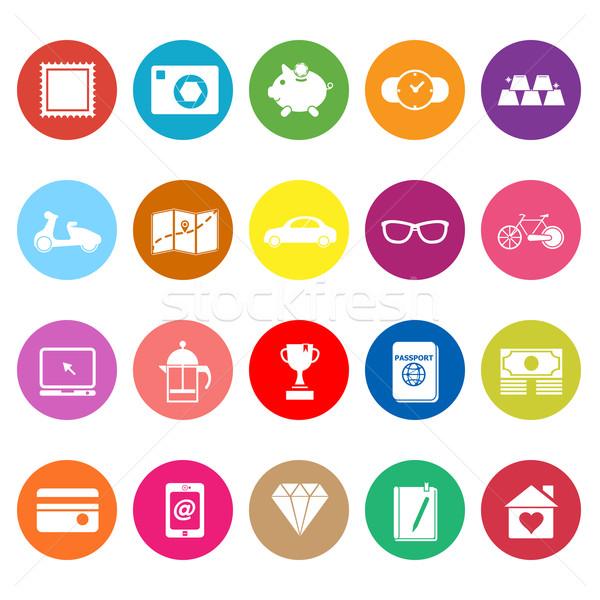 útil colección iconos blanco stock vector Foto stock © nalinratphi