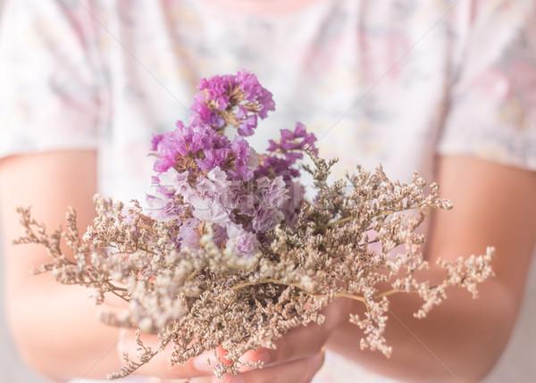 Mano bella essiccati fiore vintage filtrare Foto d'archivio © nalinratphi