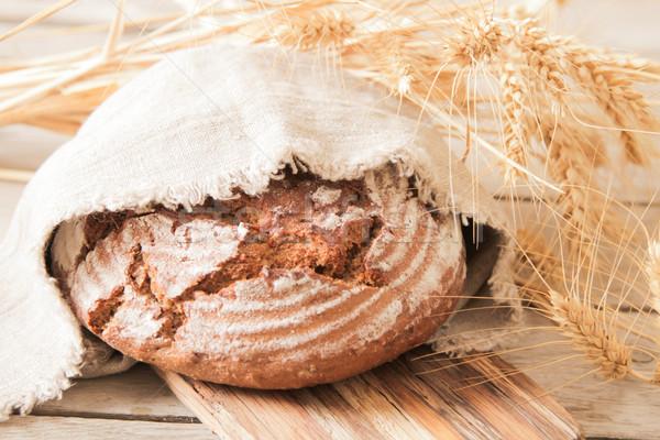Brood tarwe houten rosmarijn mais Stockfoto © Naltik