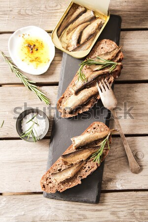 Vers brood zout heerlijk olijfolie Stockfoto © Naltik
