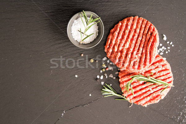 Ruw grond rundvlees vlees hamburger biefstuk Stockfoto © Naltik