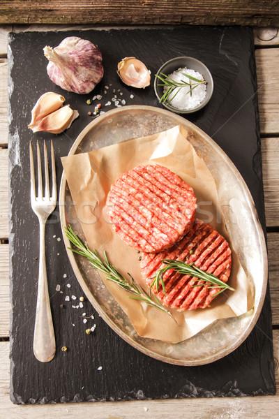 Terreno carne carne burger bife Foto stock © Naltik