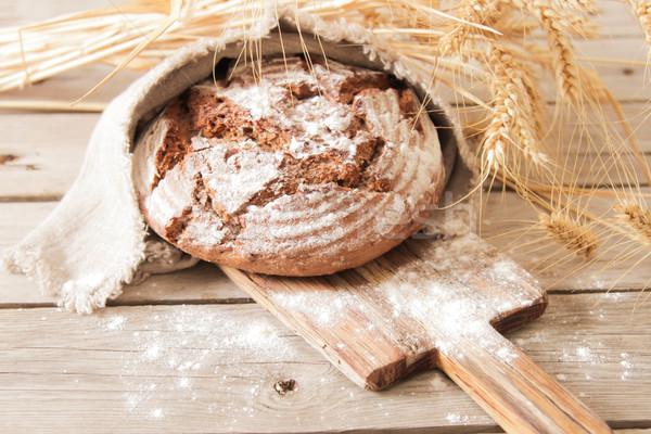 パン 小麦 木製 ローズマリー トウモロコシ ストックフォト © Naltik