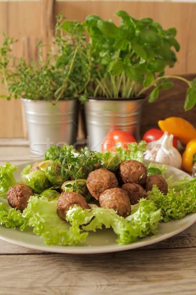 капуста салата базилик продовольствие Сток-фото © Naltik