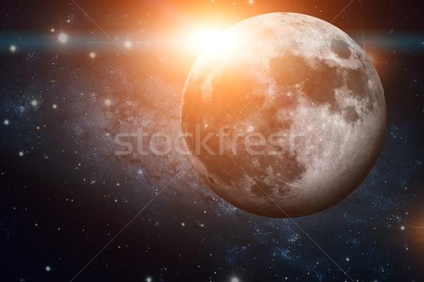 Sistema solar lua naturalismo satélite um Foto stock © NASA_images
