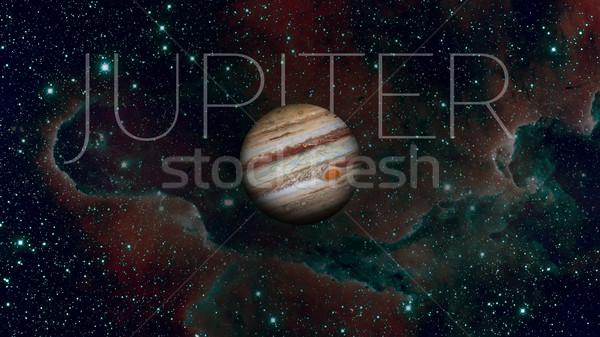 Planet Jupiter. Nebula on the background. Stock photo © NASA_images