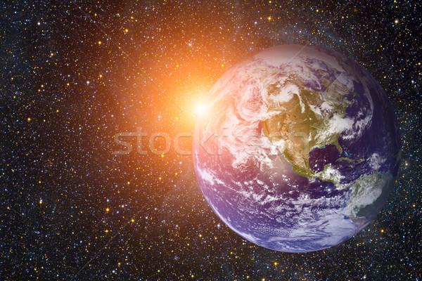 Naprendszer Föld elemek kép Föld legnagyobb Stock fotó © NASA_images