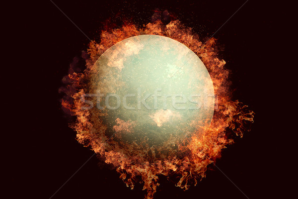 Planet in fire - Uranus. Science fiction art. Stock photo © NASA_images