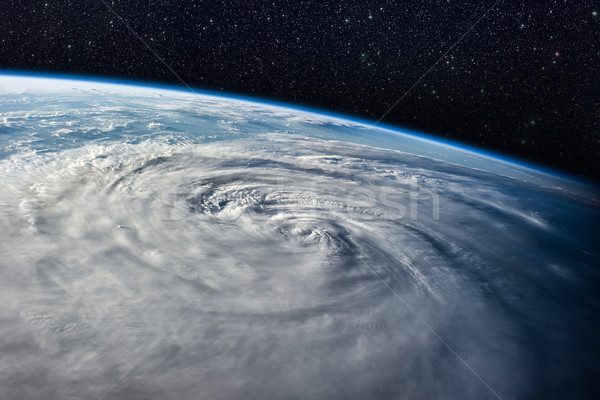 Typhoon over planet Earth - satellite photo. Stock photo © NASA_images