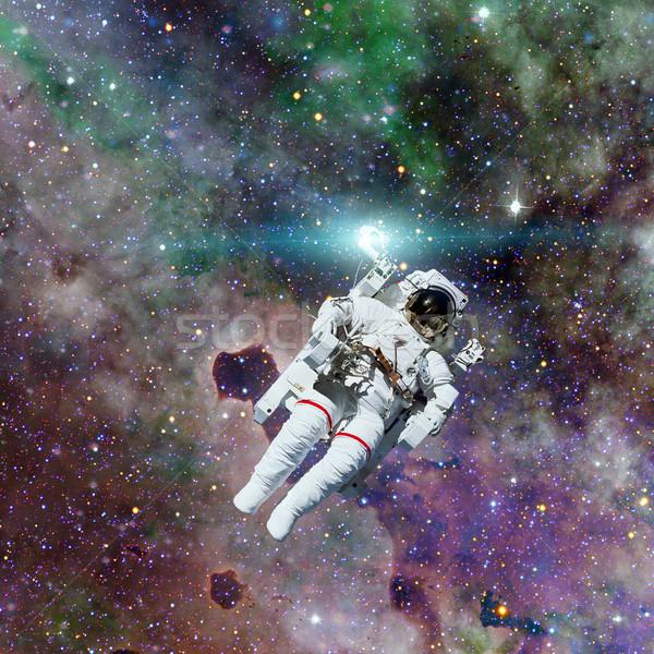 Astronauta przestrzeń kosmiczna mgławica elementy obraz człowiek Zdjęcia stock © NASA_images